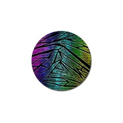Abstract Background Rainbow Metal Golf Ball Marker