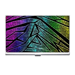 Abstract Background Rainbow Metal Business Card Holders