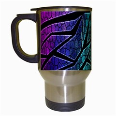 Abstract Background Rainbow Metal Travel Mugs (White)