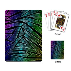 Abstract Background Rainbow Metal Playing Card