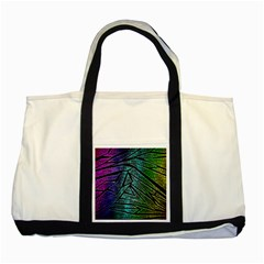 Abstract Background Rainbow Metal Two Tone Tote Bag