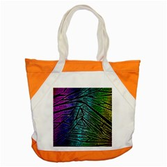 Abstract Background Rainbow Metal Accent Tote Bag