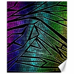 Abstract Background Rainbow Metal Canvas 8  x 10