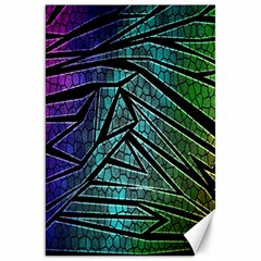 Abstract Background Rainbow Metal Canvas 20  X 30