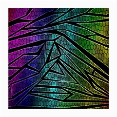 Abstract Background Rainbow Metal Medium Glasses Cloth (2-Side)