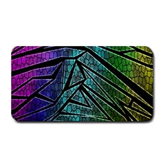 Abstract Background Rainbow Metal Medium Bar Mats