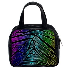 Abstract Background Rainbow Metal Classic Handbags (2 Sides)