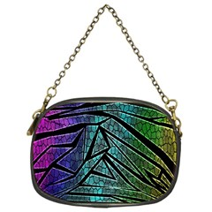 Abstract Background Rainbow Metal Chain Purses (One Side)
