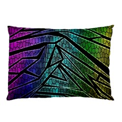 Abstract Background Rainbow Metal Pillow Case