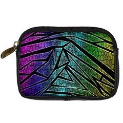 Abstract Background Rainbow Metal Digital Camera Cases