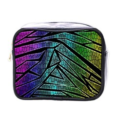 Abstract Background Rainbow Metal Mini Toiletries Bags