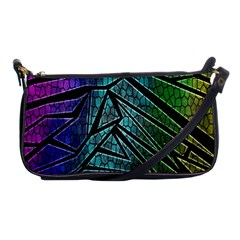 Abstract Background Rainbow Metal Shoulder Clutch Bags