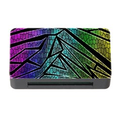 Abstract Background Rainbow Metal Memory Card Reader With Cf