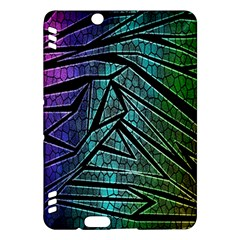 Abstract Background Rainbow Metal Kindle Fire HDX Hardshell Case