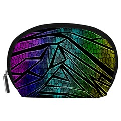 Abstract Background Rainbow Metal Accessory Pouches (large)