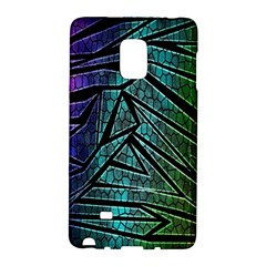 Abstract Background Rainbow Metal Galaxy Note Edge