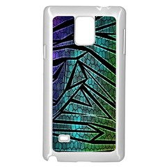 Abstract Background Rainbow Metal Samsung Galaxy Note 4 Case (White)