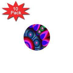 Abstract Digital Art  1  Mini Buttons (10 pack)