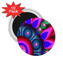 Abstract Digital Art  2.25  Magnets (10 pack)