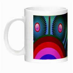 Abstract Digital Art  Night Luminous Mugs