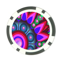 Abstract Digital Art  Poker Chip Card Guard