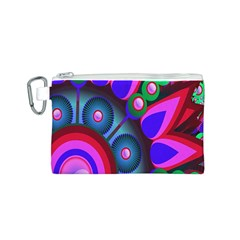 Abstract Digital Art  Canvas Cosmetic Bag (S)