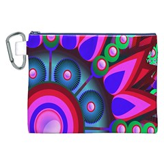 Abstract Digital Art  Canvas Cosmetic Bag (xxl)