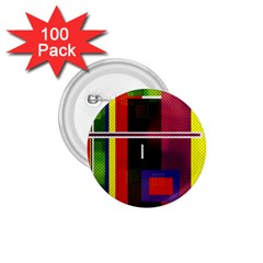 Abstract Art Geometric Background 1.75  Buttons (100 pack)