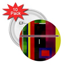 Abstract Art Geometric Background 2.25  Buttons (10 pack)