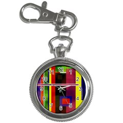 Abstract Art Geometric Background Key Chain Watches