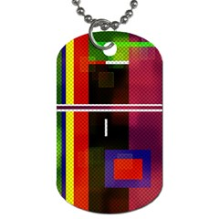 Abstract Art Geometric Background Dog Tag (Two Sides)