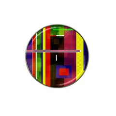 Abstract Art Geometric Background Hat Clip Ball Marker