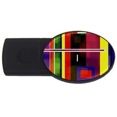 Abstract Art Geometric Background USB Flash Drive Oval (4 GB)