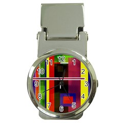 Abstract Art Geometric Background Money Clip Watches