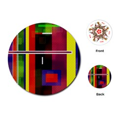 Abstract Art Geometric Background Playing Cards (Round)
