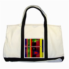 Abstract Art Geometric Background Two Tone Tote Bag