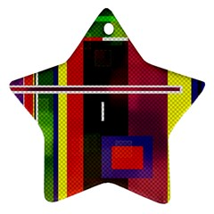 Abstract Art Geometric Background Star Ornament (Two Sides)