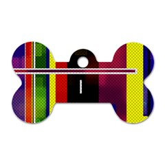 Abstract Art Geometric Background Dog Tag Bone (Two Sides)