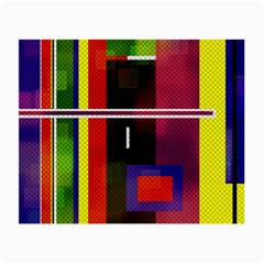 Abstract Art Geometric Background Small Glasses Cloth (2-Side)