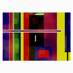 Abstract Art Geometric Background Large Glasses Cloth (2-Side)
