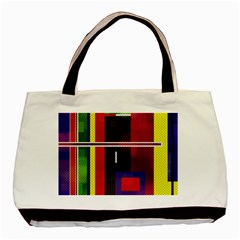 Abstract Art Geometric Background Basic Tote Bag (Two Sides)