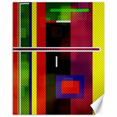 Abstract Art Geometric Background Canvas 11  x 14