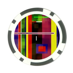 Abstract Art Geometric Background Poker Chip Card Guard