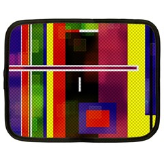 Abstract Art Geometric Background Netbook Case (large)