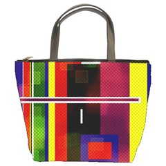 Abstract Art Geometric Background Bucket Bags