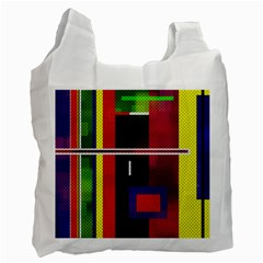 Abstract Art Geometric Background Recycle Bag (Two Side)