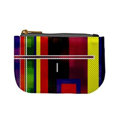 Abstract Art Geometric Background Mini Coin Purses