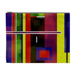 Abstract Art Geometric Background Cosmetic Bag (XL)