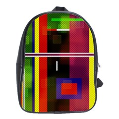 Abstract Art Geometric Background School Bags(Large)