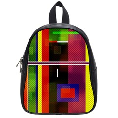 Abstract Art Geometric Background School Bags (Small)